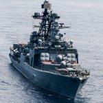 Появилось видео опасного сближения кораблей России и США в Тихом океане